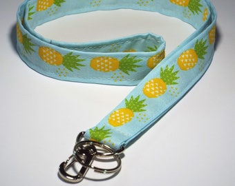 Pineapple Lanyard, Teacher Lanyard, Cute Lanyards, Lanyard, Badge Lanyard, Cute Pineapple Lanyard, Back to School, Pineapple Key Holder