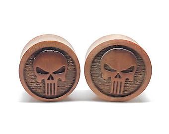 Punisher - organic sawo wood double flare plug