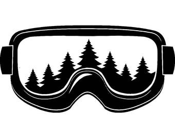 Snow Skiing Goggles #5 Equipment Snowboarding Mask Skier Ski Winter Extreme Sport .SVG .EPS .PNG Clipart Vector Cricut Cut Cutting Download