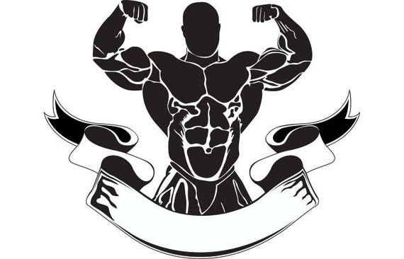 Bodybuilding Logo #12 Bodybuilder Banner Flexing ...