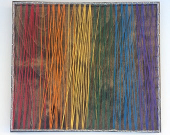 Rainbow String Art - Colours - Abstract