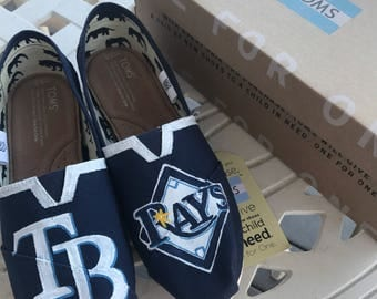 Tampa Bay Ray Hand Painted TOMS