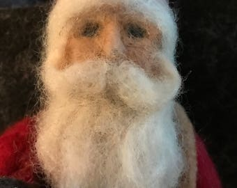 Needle felted Old World Santa and friends