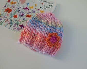 Sweet Blooming Baby Hat / Newborn / READY TO SHIP / Item#SB01