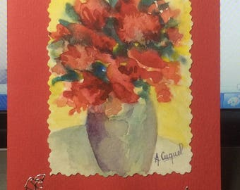 card - original watercolor painting