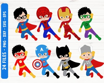 Superhero SVG Superhero svg files Superhero silhouette eps dxf png Commercial use