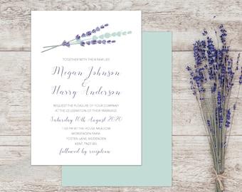 Summer wedding invites, Lavender wedding invitation sets, Country wedding invitations, Rustic Wedding Invitation, Vintage invitations A5, A6