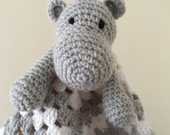 Handmade hippo comforter finished product