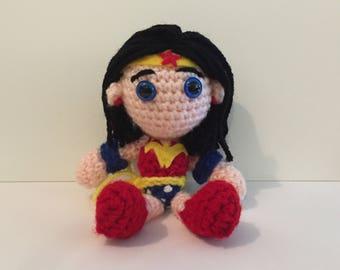 Wonder Woman Amigurumi Crochet Doll