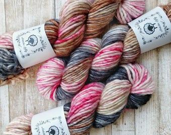 YAY! SINGLES BULKY, Love Letters, Hand Dyed Yarn, hand painted yarn, sock yarn, knitting yarn, crochet yarn
