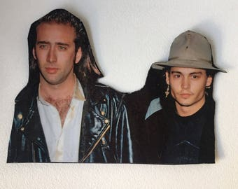 90s Nicholas Cage & 90s Johnny Depp Inspired Magnet