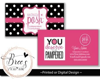 Perfectly Posh Business Cards | Card | Direct Marketing | Digital Download | Printable | Card 012