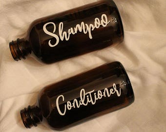 Set of 2 - Shampoo and Conditioner - 8oz Bottle Labels - LABELS ONLY