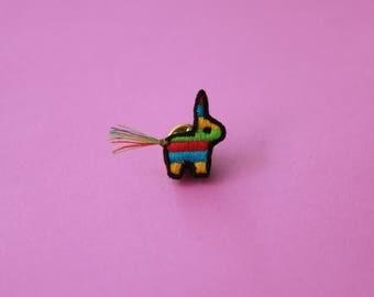 Piñata Embroidered Pin