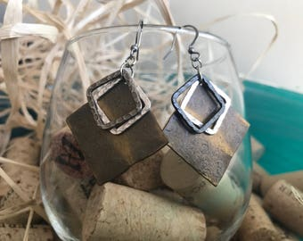 Hand hammered earrings