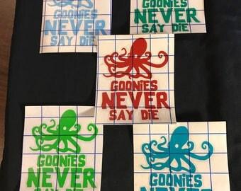 Goonies Never say Die decal / sticker