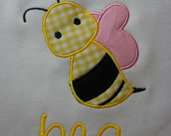 Personalized Bumble Bee Shirt for Girls Honey Bee T-shirt Yellow Bee Top