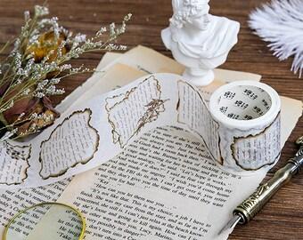 Gold Foil Poem Washi Tape - Planner, Journal, Craft, Scrapbooking, Decoration