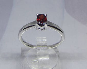 Ring silver and Rhodolite (Garnet) size 58