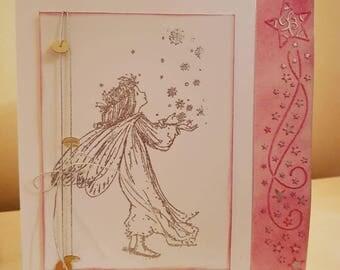 Handmade fairy Christmas card