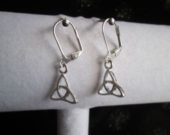 Celtic Trinidad Irish Knot Silver Earrings #2