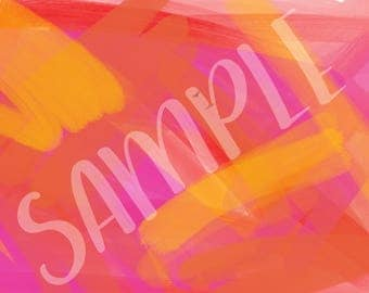 Pink, orange and Yellow brush strokes - Background 1