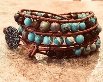 Leather Wrap Bracelet, Essential Oil Diffuser Bracelet , Aromatherapy Bracelet, Aromatherapy Jewelry