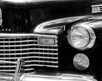 Vintage Cadillac Classic Car Automobile Black Auto Picture Wall Art Retro Print Poster A3 A4