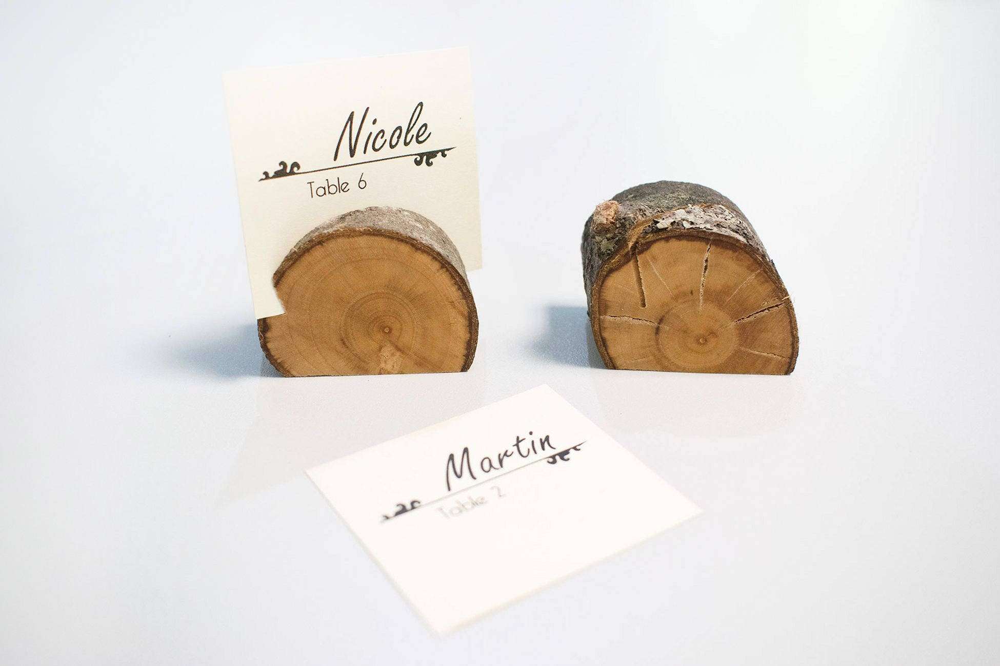 50 pieces wedding place card holder rustic wedding decor name card holder