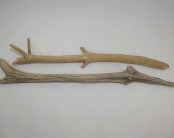 HQ 2 Driftwood Sticks 20-23''/51-60cm, Strong Thick Macrame Driftwood, Art Supplies, Wood Supply, Decorative Driftwood, Beach Crafts #157
