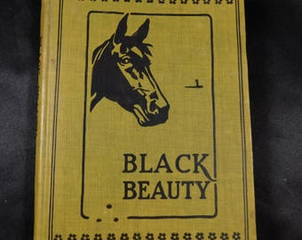 "Black Beauty ""Young Folks Edition"" The Autobiography of A Horse by Anna Sewall , 1905 vintage Hardback Children's book"