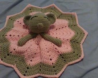 Hand Crocheted Elephant Lovey