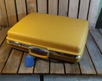 Yellow Samsonite Suitcase