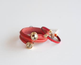 lovely Italian leather bracelets