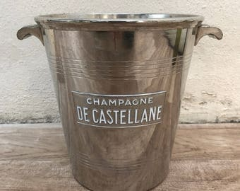 Vintage French Champagne French Ice Bucket Cooler CASTELLANE RARE 13111710