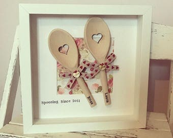 Spooning Frame • Personalised Couples Frame • Wedding Gift • Anniversary Gift • Valentines Gift • Couple's Gift