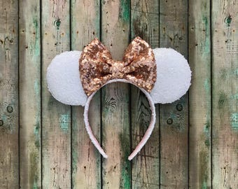 White and Rose Gold Ears!