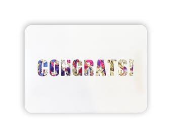 Glitter Congratulations Congrats Card