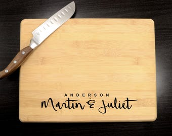 Custom Cutting Board - Wedding Gift - Personalized Wooden Cutting Board - Anniversary Gift - Engraved Butcher Block - Housewarming Gift