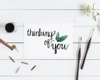 10 Pack Custom Thinking of You Cards