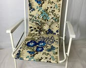 Vintage flower power folding garden chair