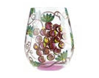Wine O'Clock Stemless Glass by Lolita