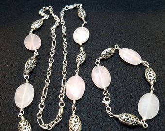 Rose quartz set