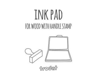 Ink pad with stamp - DO not purchase if you already have selected inkpad option with wood stamp or have not ordered wood stamp at all