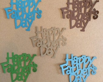 10  Happy Father's Day Die Cuts for Paper Crafts in Earth Colors Set 5810