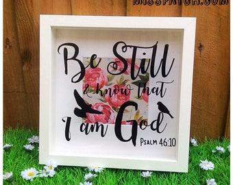 Psalm 46.10 Bible Scripture Box Frame