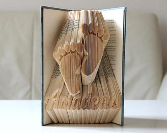 Feet with name - folded book