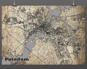 Potsdam DIN A4 / DIN A3 - print - turquoise