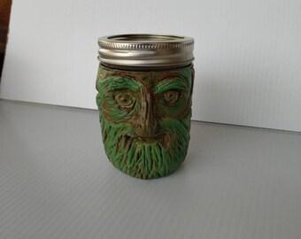 Green Man Stash Jar