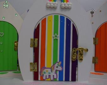 Rainbow-Unicorn Fairy Door